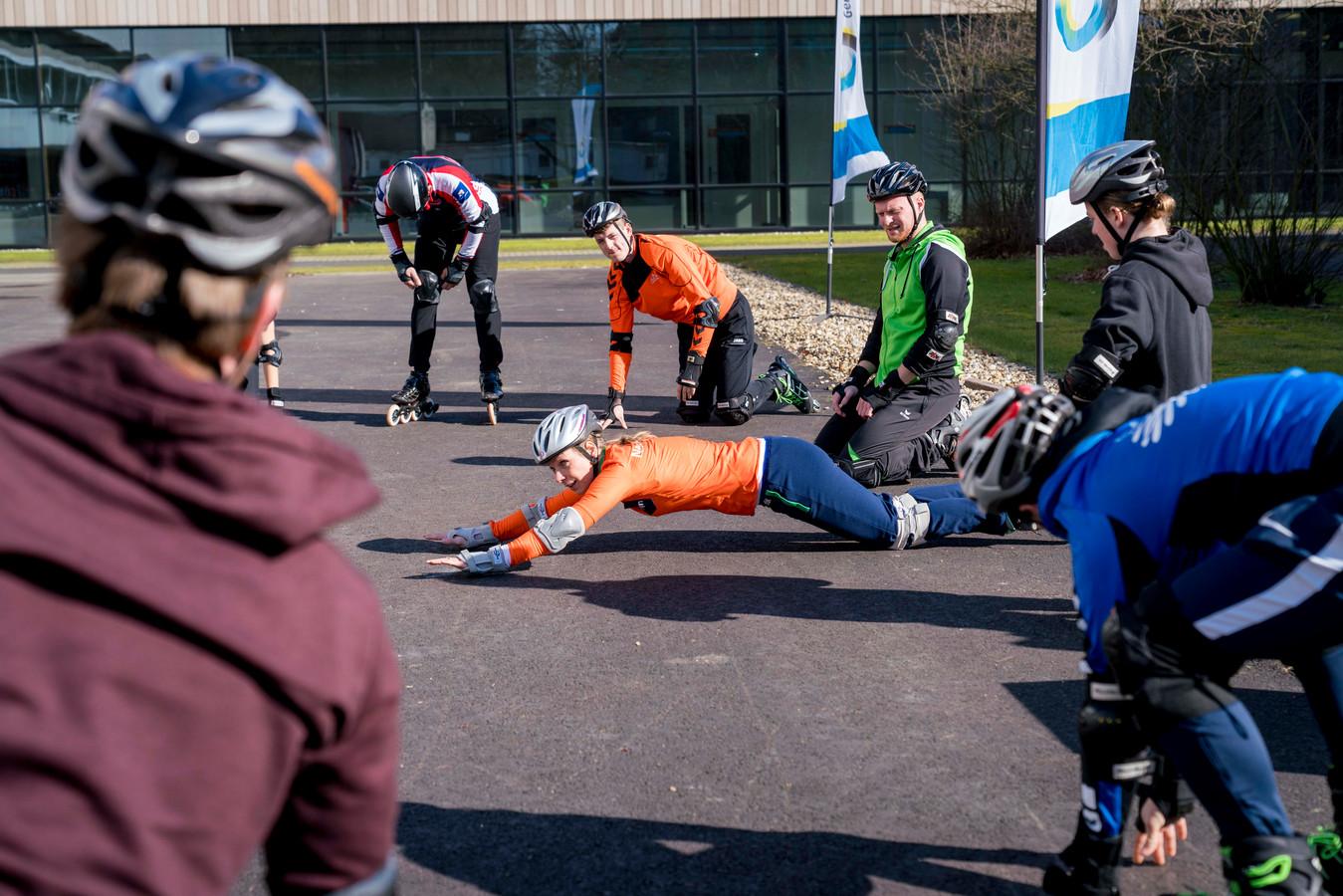 Oud-schaatster Annamarie Thomas gaf in maart een workshop inline skaten bij de introductie van het bomvolle sportjaar dat Arnhem als European City of Sports dit jaar beleeft.