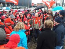 Vleesverwerkers demonstreren op Bijsterhuizen