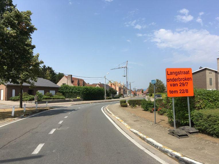 De Langstraat is onderbroken sinds 29 juli en blijft dat tot 22 augustus