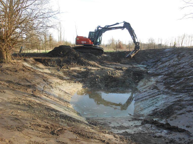 In Eikevliet wordt de 'peerdeput', aan de rand van het beschermd landschap Het Moer en tegenover de geklasseerde Koolputhoeve, weer aangelegd.