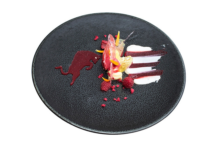 Het nieuwe dessert 'Max'33' van restaurant Katseveer.