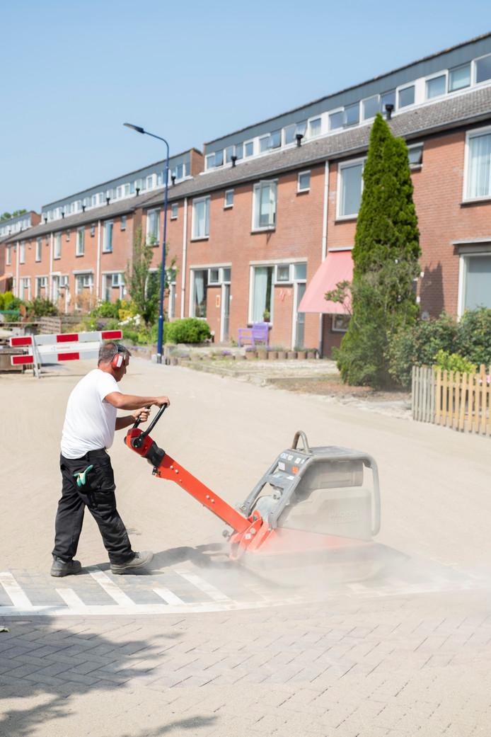 Noeste arbeid in de Wielingenstraat.