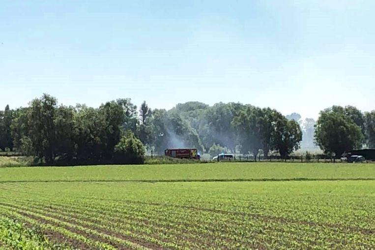 De brand bevond zich aan het einde van de Grote Zadelweg in Erpe.