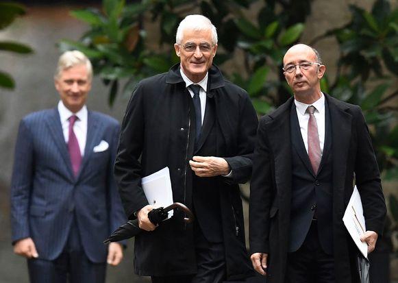 Geert Bourgeois (N-VA) en Rudy Demotte (PS) beginnen vandaag aan hun nieuwe opdracht die ze van koning Filip kregen.