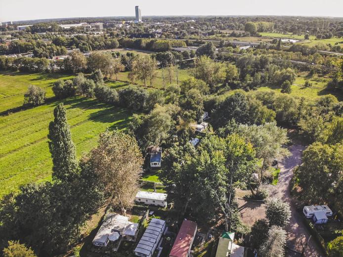 Camping Stropke vanuit de lucht.