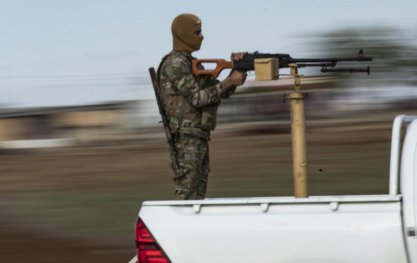 Een YPG-strijder in 2019