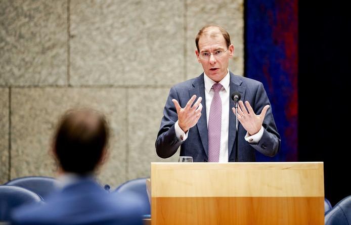 Staatssecretaris Menno Snel van Financiën eerder deze maand tijdens het debat in de Tweede Kamer over het optreden van de Belastingdienst in de affaire rond kinderopvangtoeslagen.