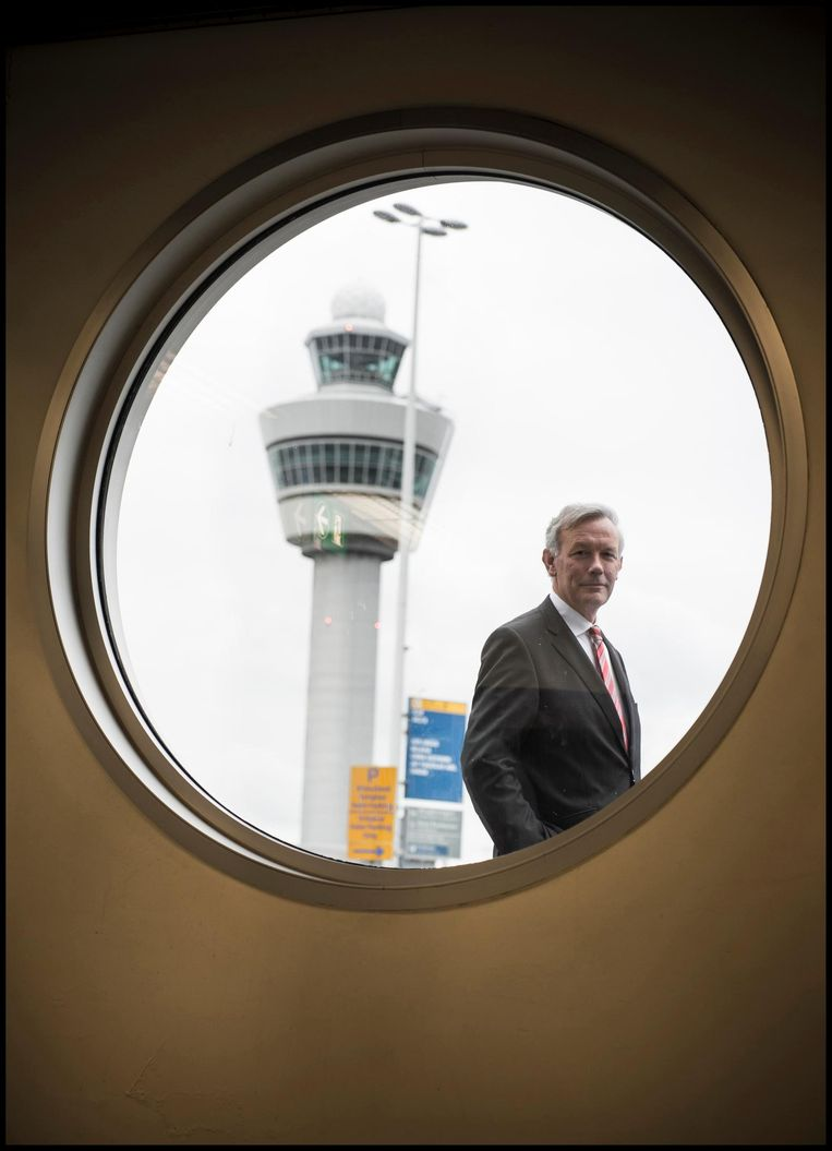 Vertrekkend Schiphol-topman Jos Nijhuis was not amused toen Lelystad vertraging opliep. Beeld Jeroen Oerlemans / Hollandse Hoogte