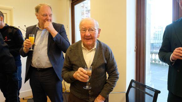 Met zijn 101 jaar was ook de oudste bewoner van Borsbeek aanwezig