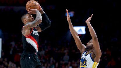 61 punten: Lillard blinkt uit voor Portland tegen Golden State - Lakers verliezen in Boston