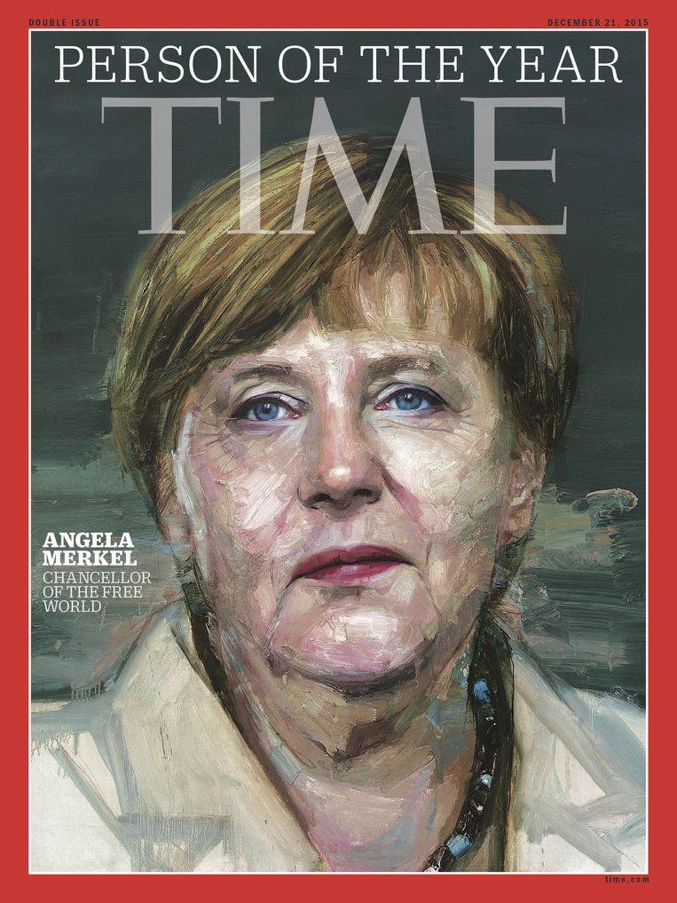 Angela Merkel op de cover van Time Magazine. Beeld null