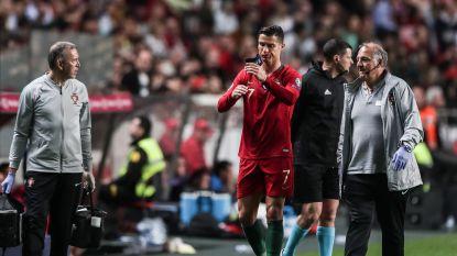 EK-KWALIFICATIE. Ronaldo druipt geblesseerd af bij Portugal - Mbappé steelt de show met weergaloze assist - Engelsen leggen er vijf binnen