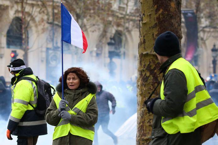 Archiefbeeld, gele hesjes tijdens protest in Frankrijk.
