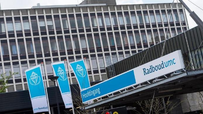 De hoofdingang van het Radboudumc