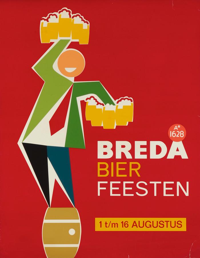 Affiche 'Breda Bier Feesten' uit 1964