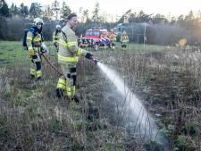 Deel sportveld Dieren gaat in vlammen op