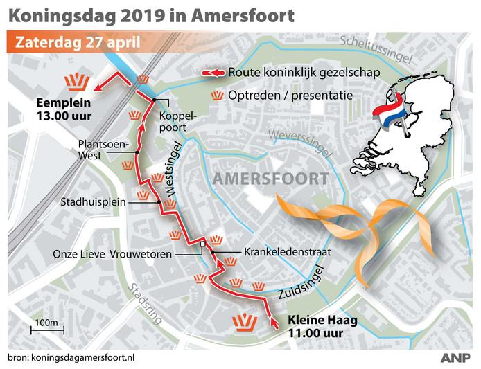 De koninklijke route door Amersfoort.