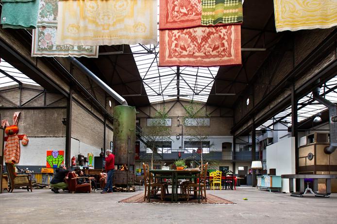 De fabriekshal van de Klokkengieterij. Huurder Atelier Vonk is inmiddels vertrokken.