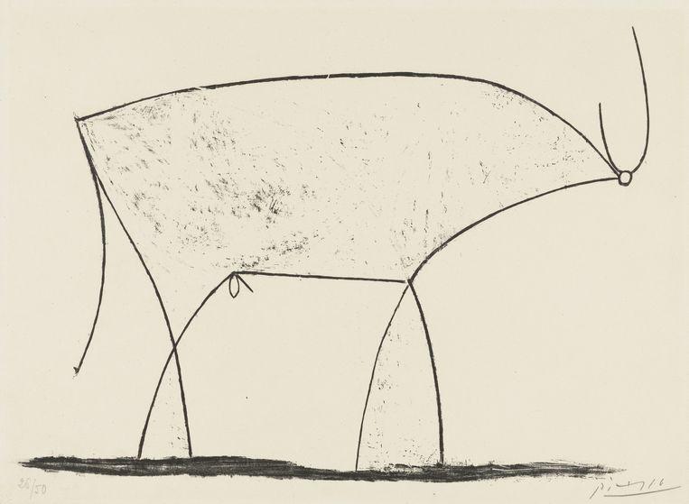 Pablo Picasso, Le Taureau State XIV, 1945 Beeld Pictoright Amsterdam 2019