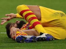 Nouveau coup dur pour le Barça: Piqué sur la touche au moins six semaines