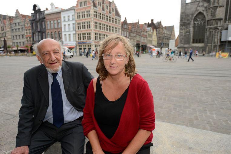 Tineke De Rijck met haar vader Eli in 2012
