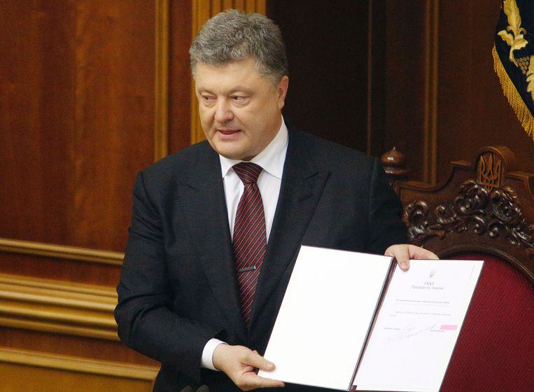 De Oekraïense president Petro Poroshenko.