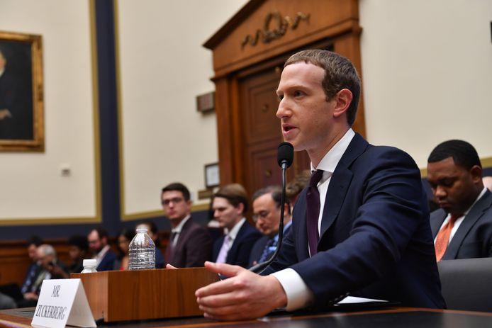 Mark Zuckerberg tijdens een hoorzitting in 2019.