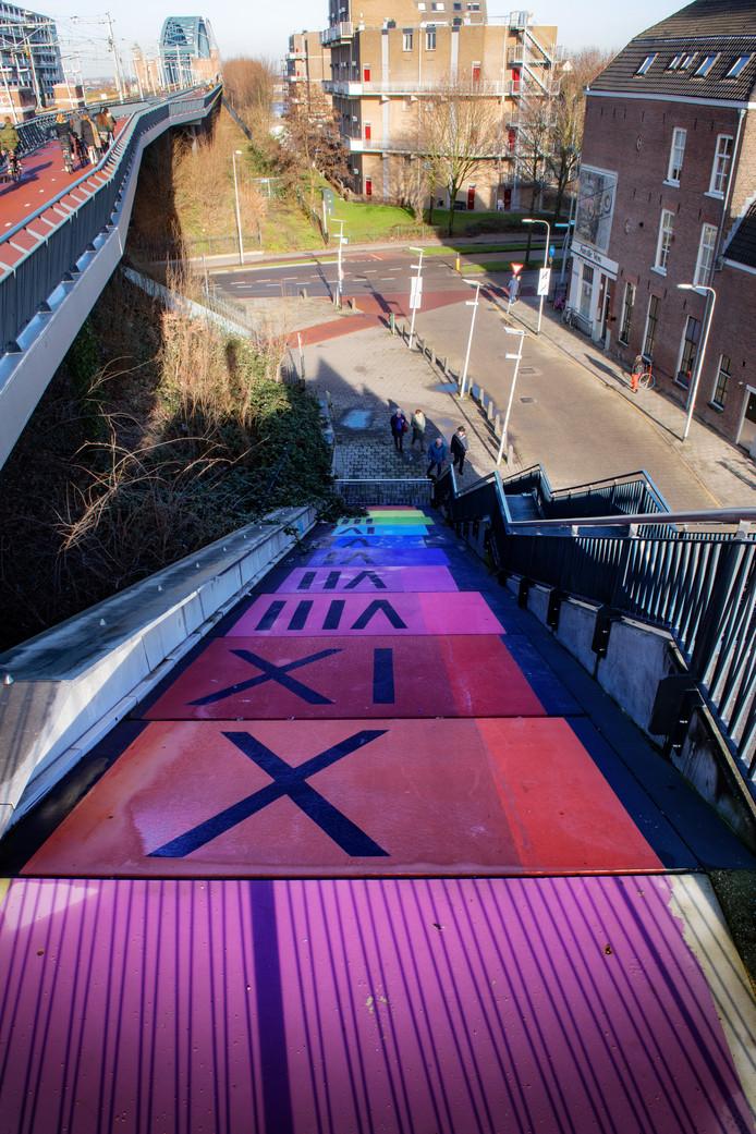 Nijmegen/Nederland: Fietstrap HezelpoortDgfotofoto: Bert Beelen