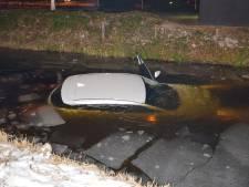 Brandweer breekt oefening met te water geraakte auto af vanwege te water geraakte auto