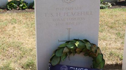 Soldaat krijgt correcte naam op grafsteen