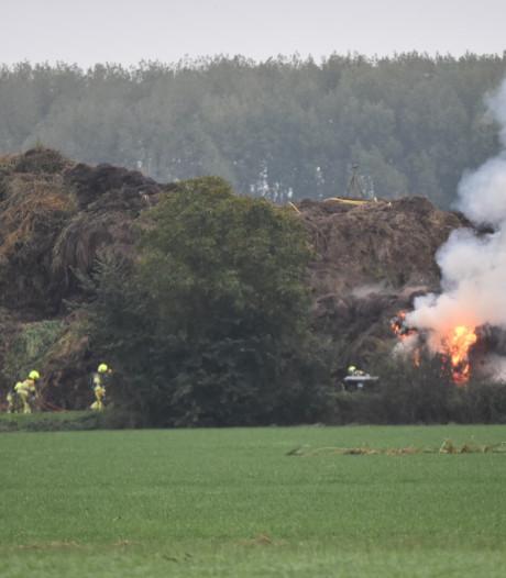 Opnieuw brand bij Groen Recycling in Brakel: vlammen in composthoop