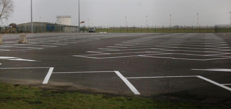 De extra luchthavenparking P3 is nu nog leeg, maar daar komt halfweg maart verandering in.