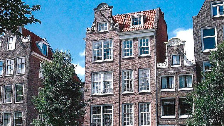 Eerste Laurierdwarsstraat 35-37, oude gevel voor gebouw uit de jaren dertig Beeld Gemeente Amsterdam