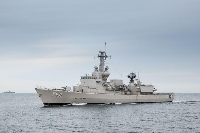 Het Belgische fregat Louise-Marie
