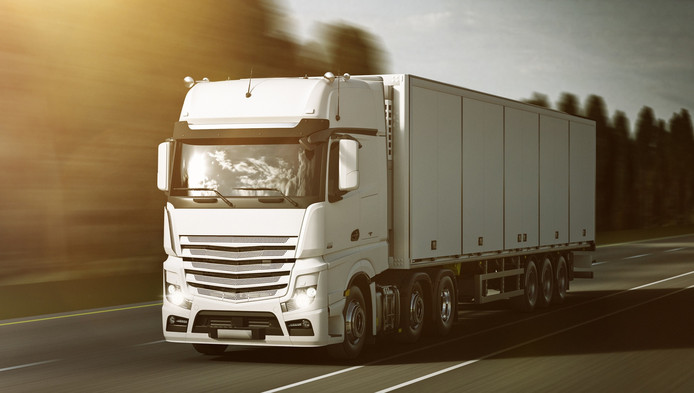Vrachtwagen. (Stockfoto)