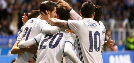 Real komt na sterke overwinning weer langszij bij Barcelona