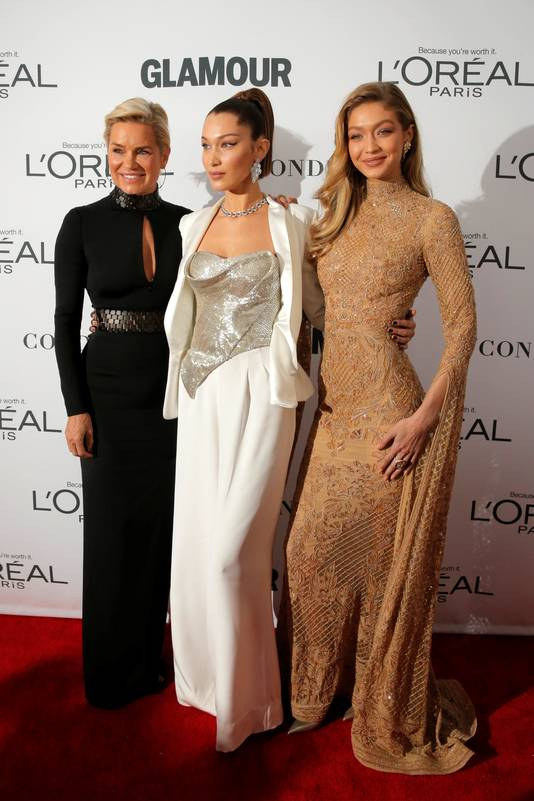 Tijdens de Glamour Women of the Year Awards