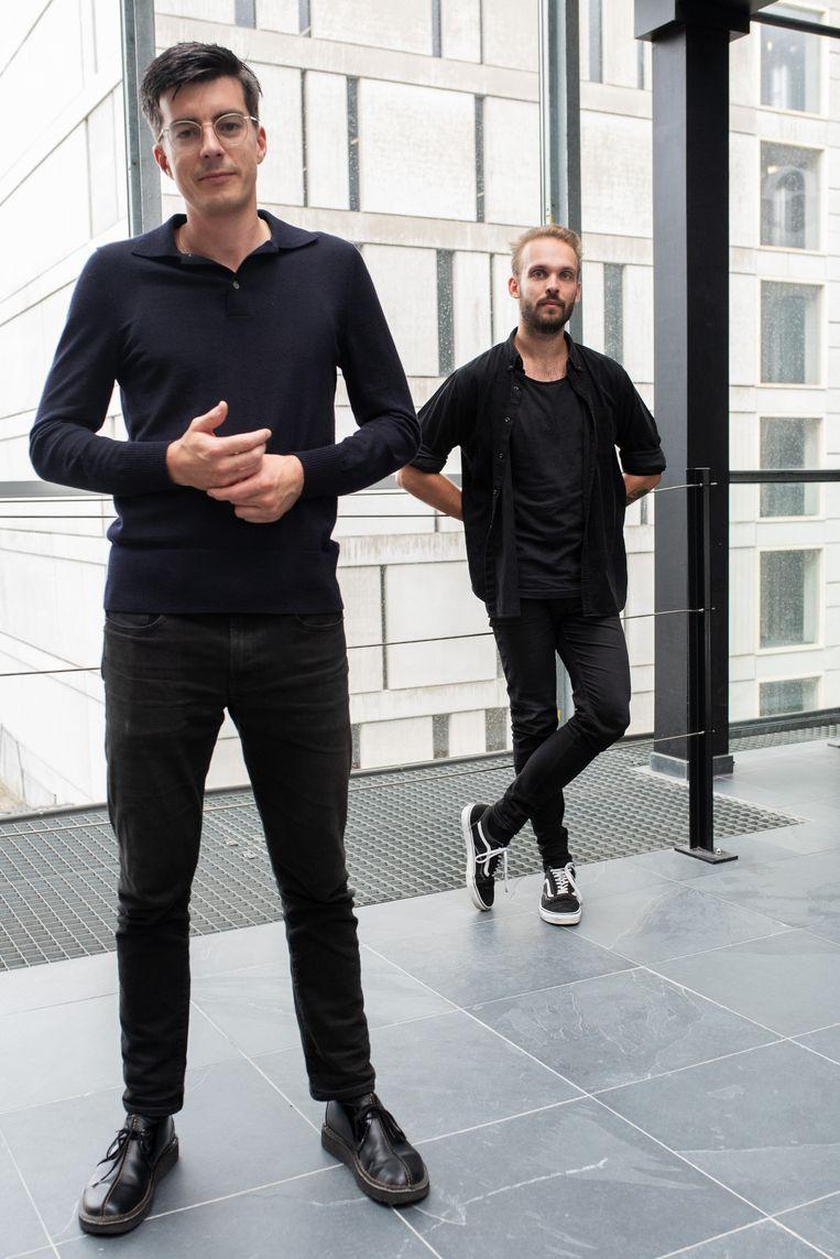 Jasper Veenstra (L) en Yves Leroi (R).  Beeld Sabine van Wechem