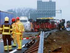 Verkeersinfarct na ongelukken op snelwegen rond Eindhoven