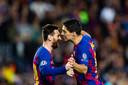 Lionel Messi en Luis Suárez.