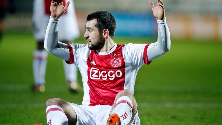 Amin Younes afgelopen seizoen in een wedstrijd van Jong Ajax. Beeld Pro Shots / Stanley Gontha