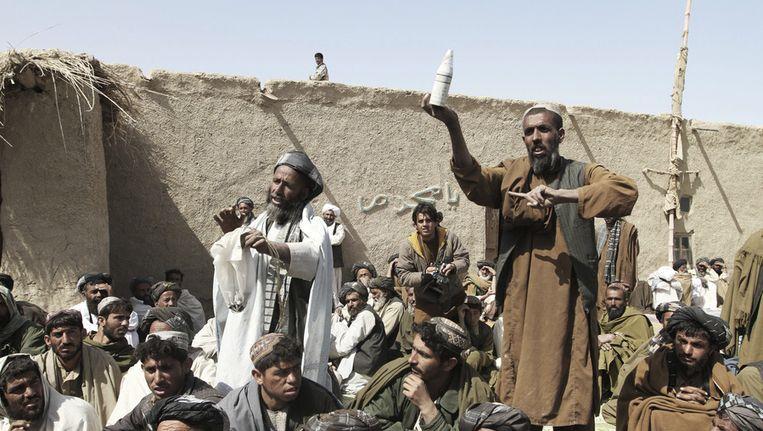 Afghaanse dorpelingen in de provincie Kandahar. Beeld null