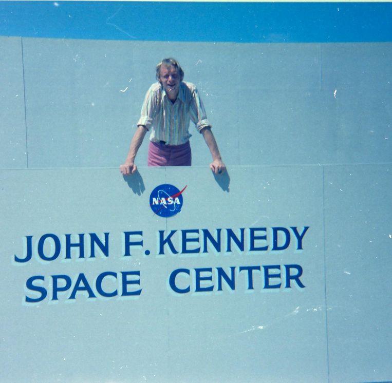 Simon Vinkenoog bij het Kennedy Space Center. Beeld Cas Oorthuys