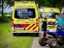 Bestuurder quad gewond bij ongeval in Geesteren: traumahelikopter geannuleerd