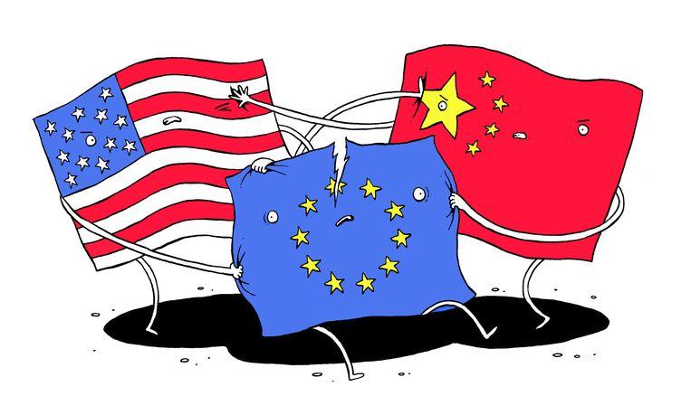Europa moet kiezen tussen VS en China   De Morgen