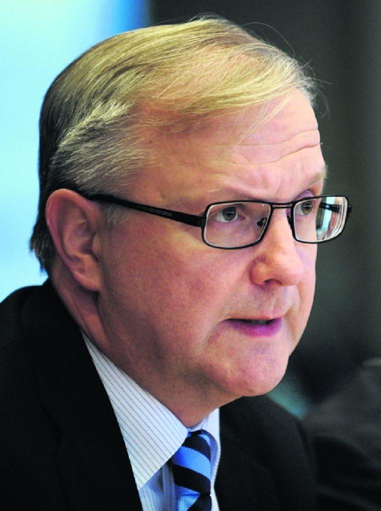 Eurocommissaris Olli Rehn (economische zaken). Beeld AFP