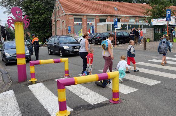 Vanaf volgende week zal het autoverkeer wegvallen aan de Grobbendonkse scholen rond begin- en eindtijd van de schooluren