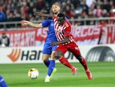 Fran Sol speelt met Dynamo Kiev gelijk tegen Olympiakos Piraeus van Kostas Tsimikas