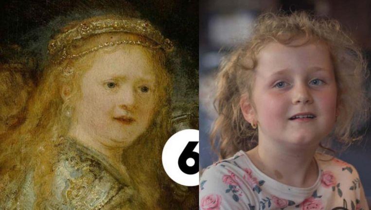 De Amsterdamse Lizzy-Ann lijkt sprekend op het meisje van de Nachtwacht Beeld Julius Rooymans