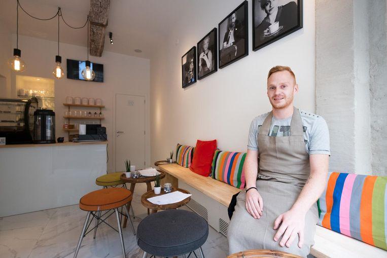 Len Pieters in zijn nieuwe koffiebar Dora's.